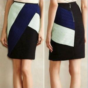 Maeve Anthropologie Color Block Pencil Skirt 4